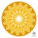 Kollane kaltsiit kristallimandala