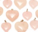 Roosa kvarts ripats süda mahuline
