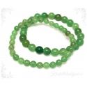 Aventuriin roheline käevõru ümarate kividega
