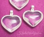 Mäekristall südameripats hõberaamis