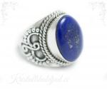 Lapis lazuli ehk lasuriit hõbesõrmus