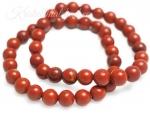 Punane jaspis käevõru ümarate kividega