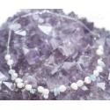 Pärlid ja akvamariin kaelakee