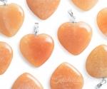 Aventuriin oranž ripats süda