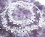 Mäekristall kaelakee hõbekinnitusega fassetitud