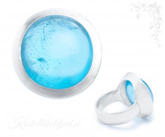 Sinine topaas hõbesõrmus Aqua Sri Lankalt