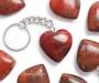 Bretšastunud jaspis võtmehoidja süda