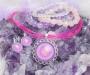 Ametüst ja roosa kvarts kristallimandala ehted