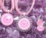 Rodokrosiit kristallimandala ehted