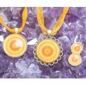 Kollane kaltsiit kristallimandala ehted