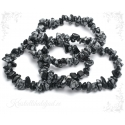 Lumehelbe obsidiaan käevõru tšipsidest