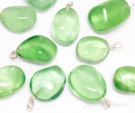 Roheline fluoriit hõbekinnitusega ripats