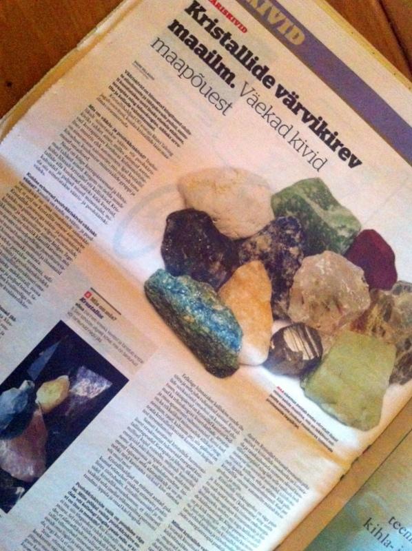 9de6568317d Äripäeva intervjuu Maiviga: Kristallide värvikirev maailm. Väekad ...