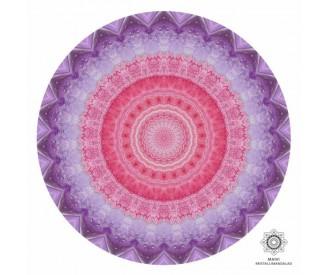 Ametüst ja roosa kvarts kristallimandala