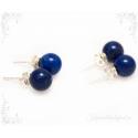 Lapis lazuli ehk lasuriit hõbekõrvarõngad