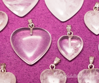 Mäekristall ripats süda