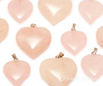 2e222c8867b Roosa kvarts ripats süda mahuline