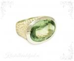 Ametüst roheline, prasioliit hõbesõrmus