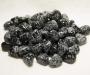 Lumehelbe obsidiaan lihvitud