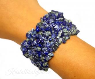 Lapis lazuli ehk lasuriit lai käevõru tšipsidest A-klass