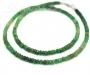 Smaragd kaelakee hõbekinnitusega