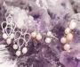 Pärlid hõbekõrvarõngad tilgad