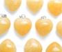 Kollane kaltsiit ripats süda mahuline