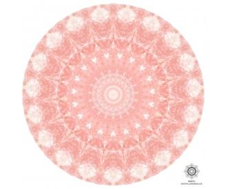 Roosa kvarts kristallimandala