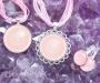 Roosa kvarts kristallimandala ehted
