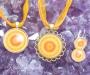 Kollane kaltsiit kristallimandala 2 ehted