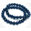 Sinine liivakivi ehk sünteetiline kuldkivi käevõru ümarate kividega
