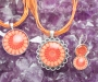 Granaat ja karneool kristallimandala ehted