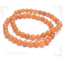 Aventuriin oranž käevõru fassetitud kividega