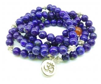 Lapis lazuli ehk lasuriit mala-käevõru 108 palvehelmega
