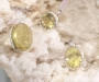 Topaas kollane hõberipatsid Sri Lankalt