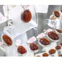 Granaat hessoniit Cinnamon hõberipats Sri Lankalt