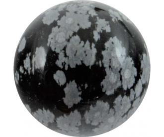 Lumehelbe obsidiaan kuul