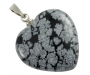 Lumehelbe obsidiaan ripats süda