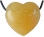 Kollane kaltsiit süda auguga