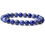 Lapis lazuli ehk lasuriit käevõru ümarate kividega