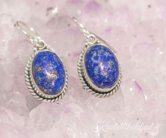 Lapis lazuli ehk lasuriit hõbekõrvarõngad Indiast