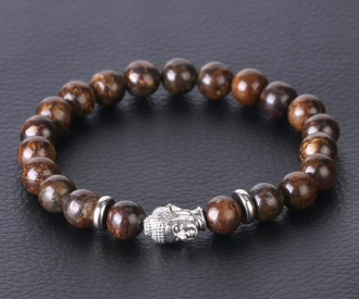 Bronsiit käevõru Buddhaga