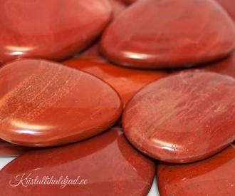 Punane jaspis lapik kivi