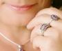 Ametüst ja tsirkoonid hõbesõrmus  Sri Lankalt