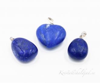 Lapis lazuli ehk lasuriit hõberipats lihvitud