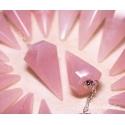 Roosa kvarts pendel 6-tahuline