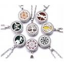 Aroomidifuuserid, kristallidega medaljon ketiga