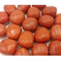 Leiunurk: Punane jaspis lihvitud, defektiga