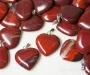 Punane jaspis ripats süda
