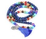 Lapis lazuli ehk lasuriit mala-kaelakee, käevõru 108 palvehelmega